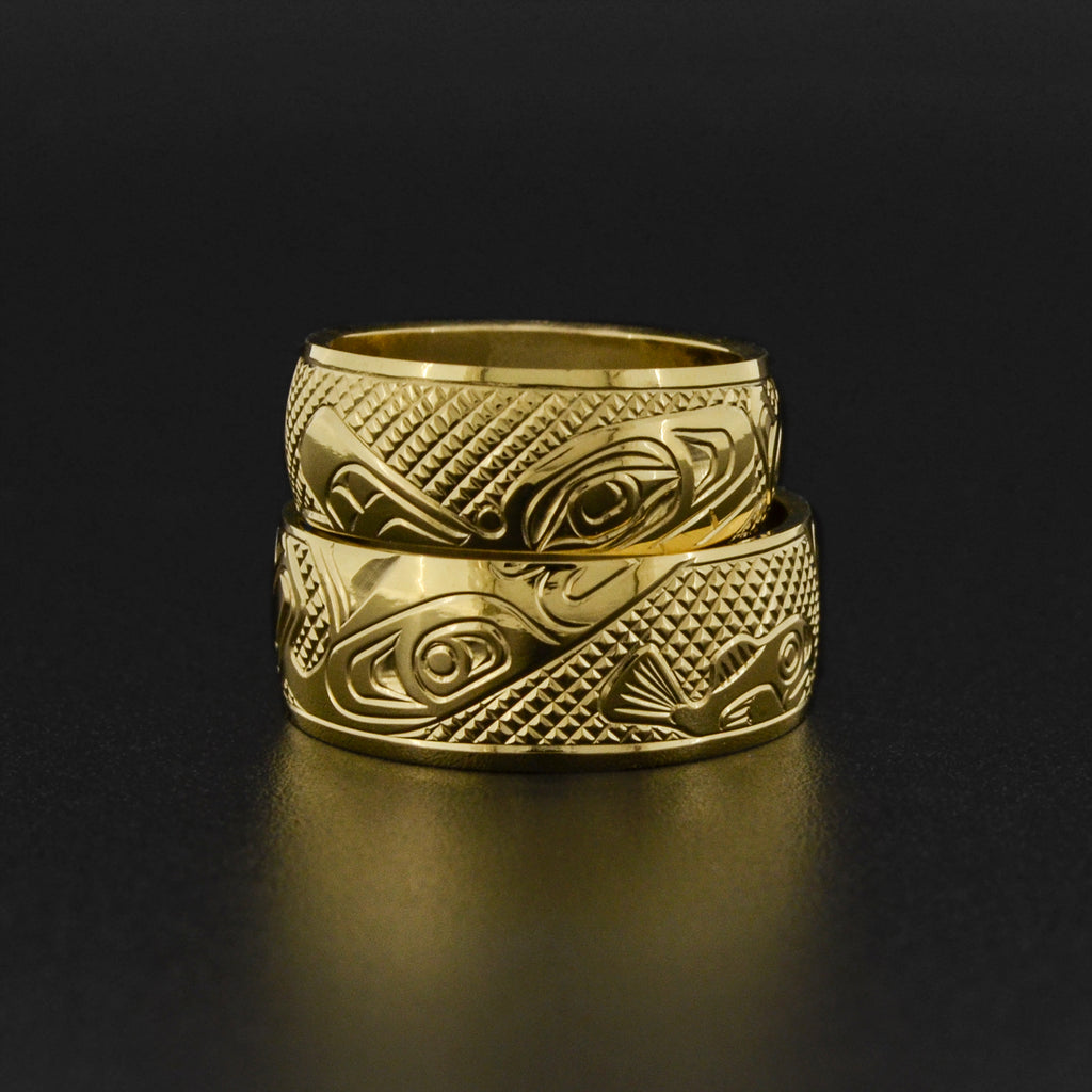 Stacking Killerwhales - Set of 18k Gold Rings