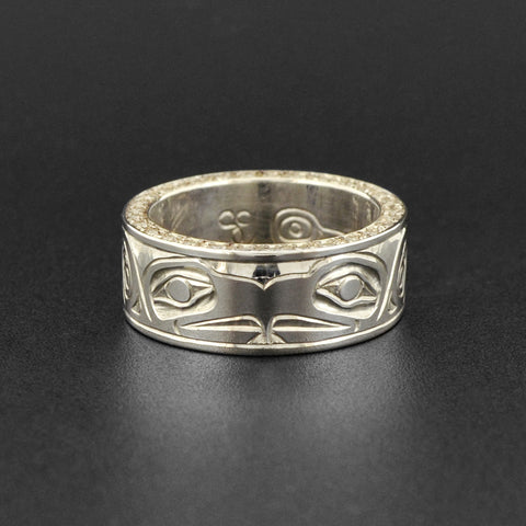 Eagle - Silver Ring with Diamonds