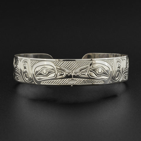 Two Ravens Steal the Light - Silver Bracelet