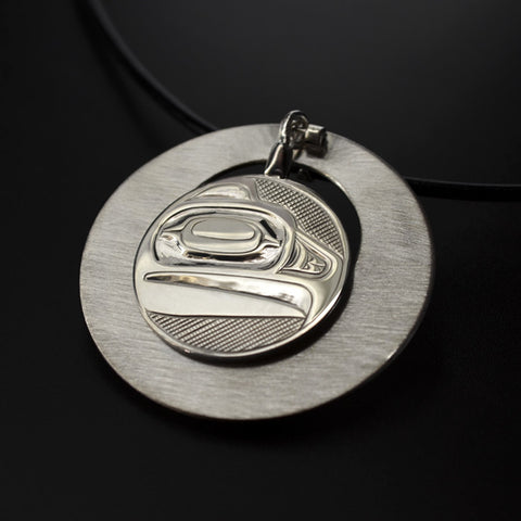 Eagle Transformation - Silver Pendant