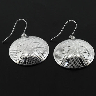 Beadwork - Silver Earrings
