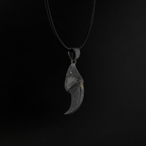 Bear Claw - Oxidized Silver Pendant