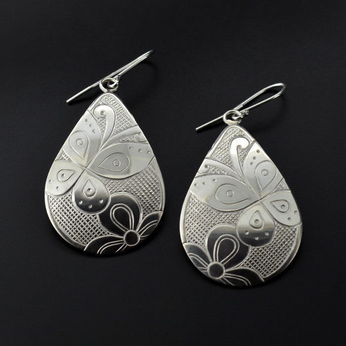 Butterlies - Silver Earrings