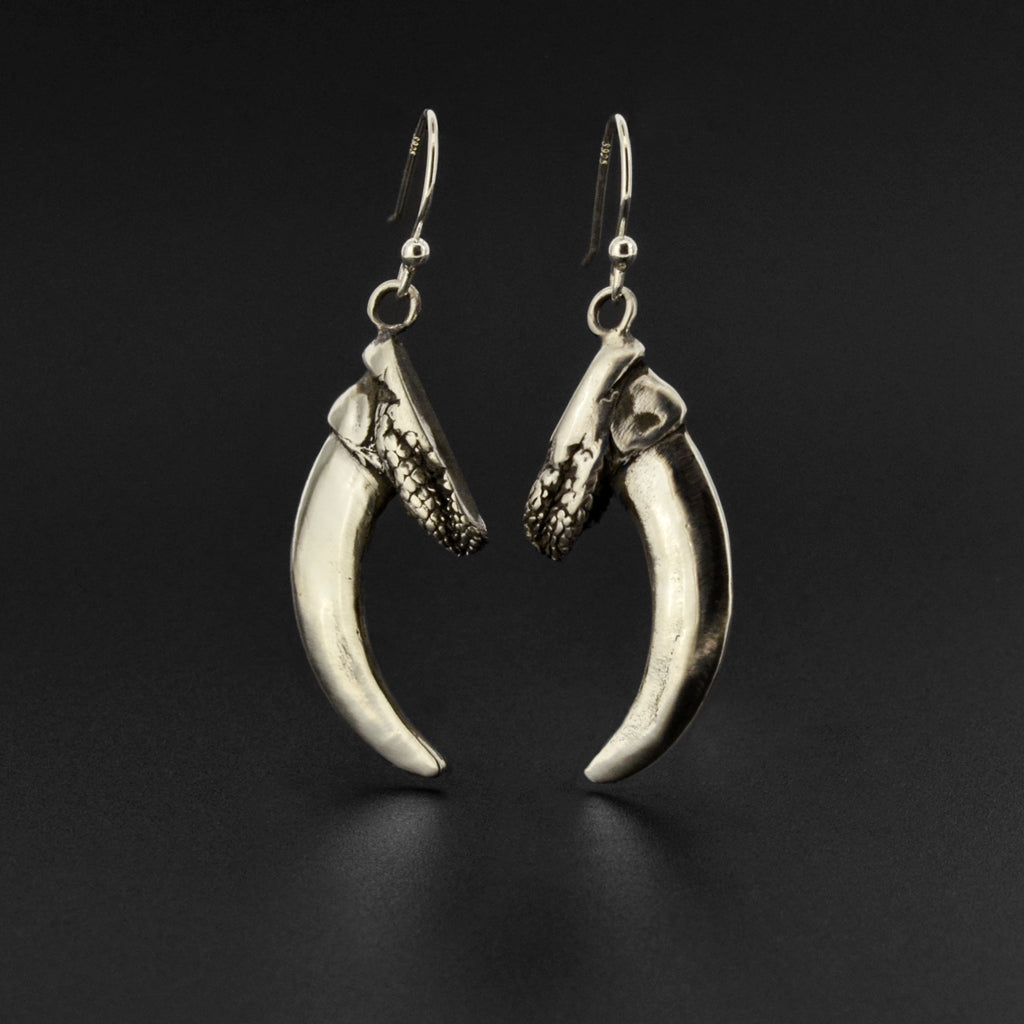 Bear Claw - Silver Earrings