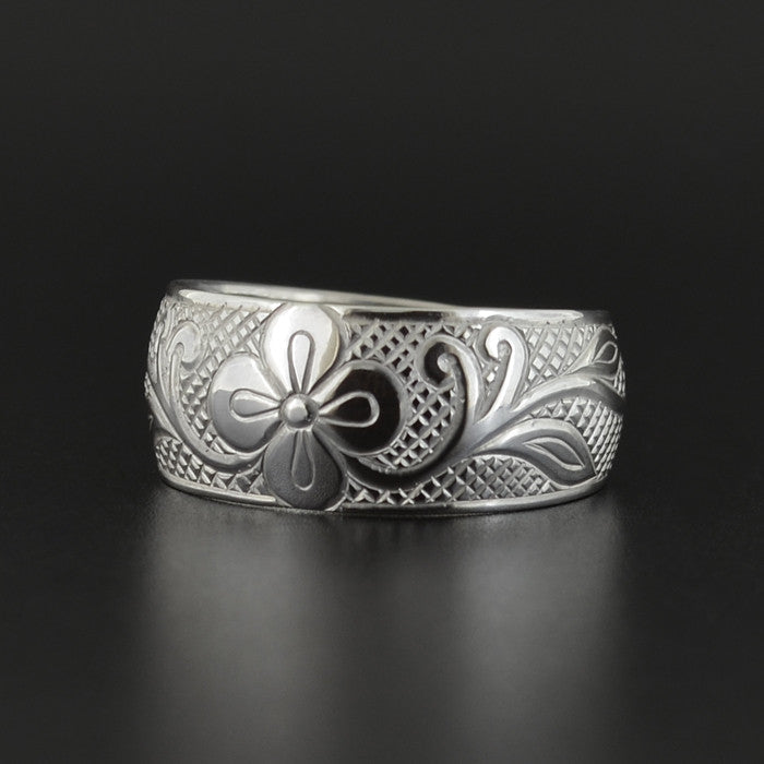Floral - Silver Ring