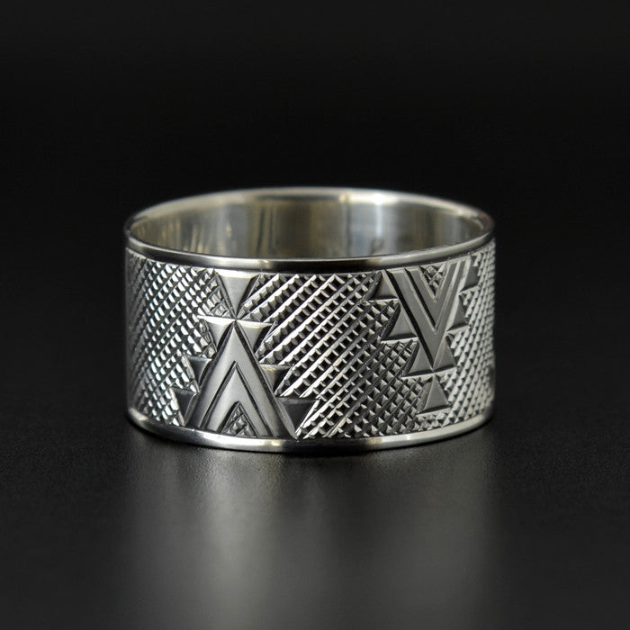 Geometric Weaving - Silver Ring