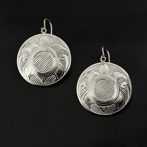 Turtles - Silver Earrings