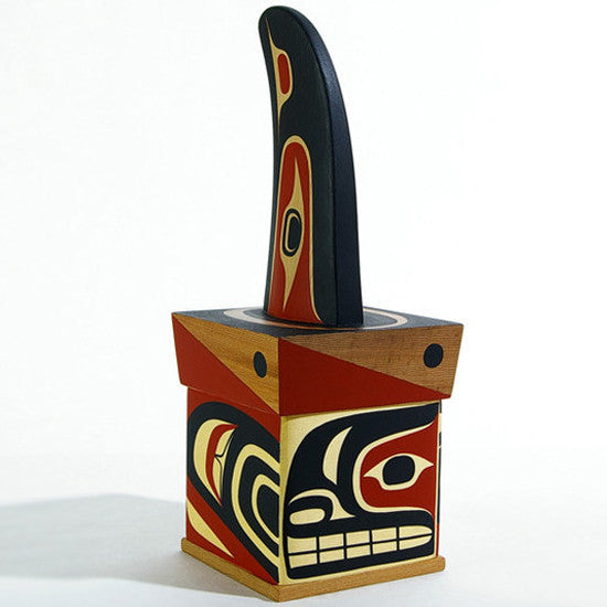 Killerwhale Rattle - Cedar Bentwood Box