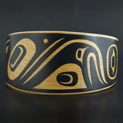 Eagle and Raven - Steam-Bent Wood Bracelet