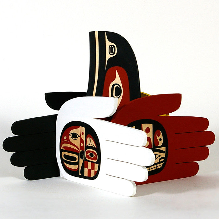 Hands of Peace and Friendship - Red Cedar and Basswood Sculpture