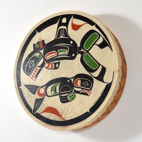 Killerwhale and Seal - Elk Hide Drum