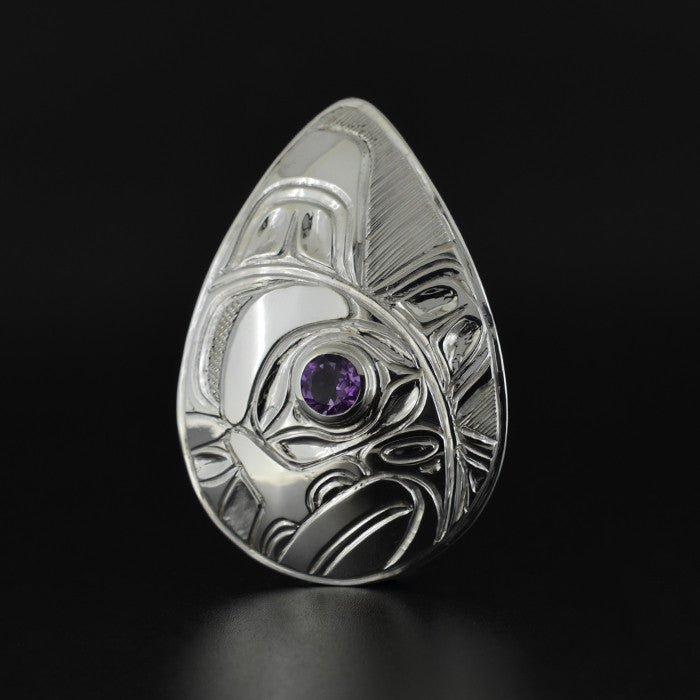Sundown - Silver Pendant with Amethyst