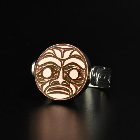 Sun and Moon - Silver and Copper Ring