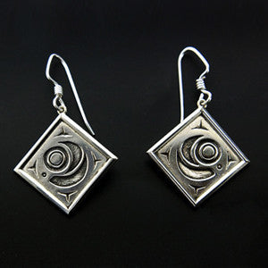 Salmon - Silver Earrings