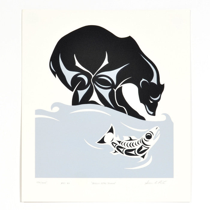 Grizzly After Salmon - Limited Edition Print