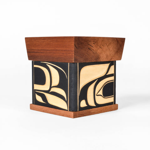 Raven and Wolf - Bentwood Box