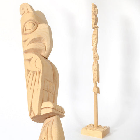 Guardians of the Salish Sea - Yellow Cedar Talking Stick