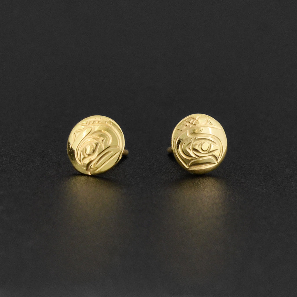 Raven - 14k Gold Earrings