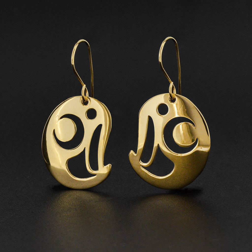Owl - 14k Gold Earrings