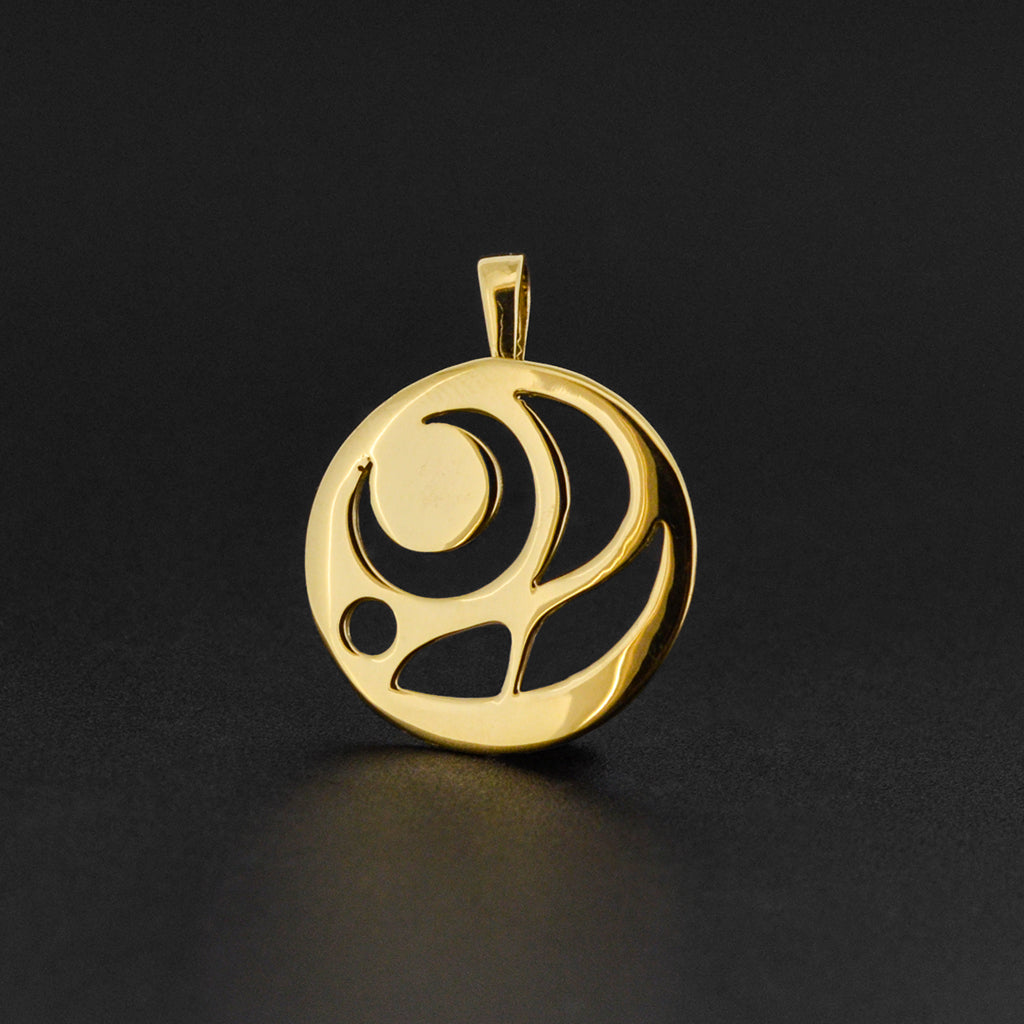 Salmon Egg - 14k Gold Pendant