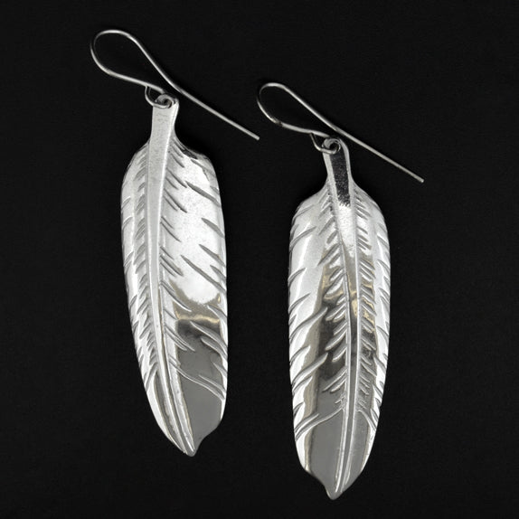 Feathers - Silver Earrings