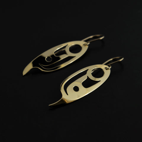 Eagle Feather - 14k Gold Earrings