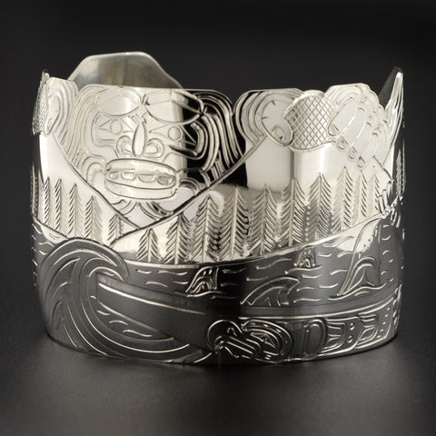 Earthquake - Silver Bracelet