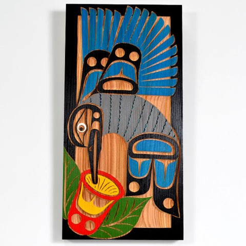 Hummingbird - Red Cedar Panel