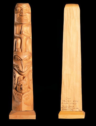 Chief, TBird, Killerwhale - Yellow Cedar Pole