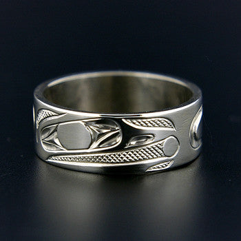 Raven and the Light - 14k White Gold Ring