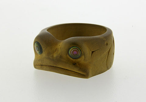 Frog - Boxwood Ring