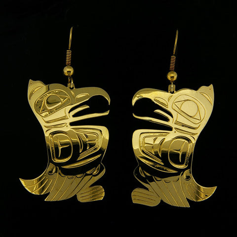 Eagle - 18k Gold Earrings