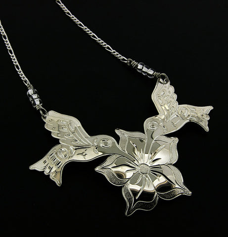 Hummingbirds - Silver Necklace