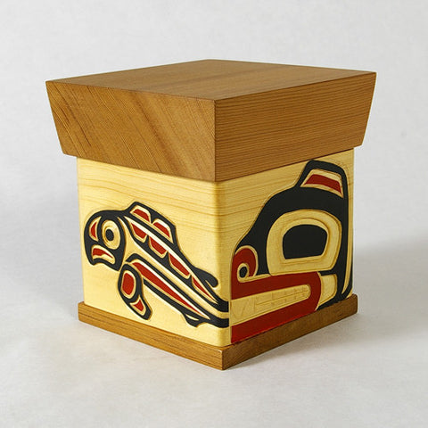 Bear and Salmon - Bentwood Box