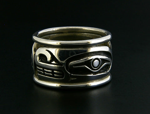 Whale - Silver Ring