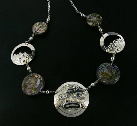 Moon - Silver Necklace