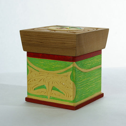 Eagle and Moon - Cedar Bentwood Box