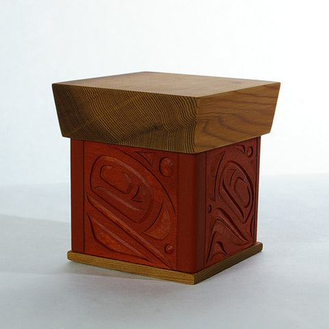 Four Salmon - Cedar Bentwood Box