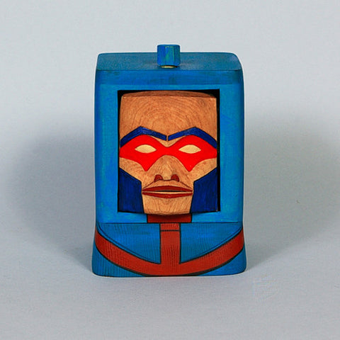 Man-E-Faces - Cedar Bentwood Box