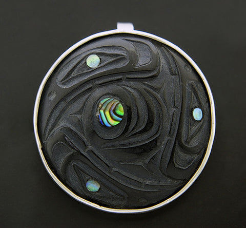 Cycles - Argillite and Silver Pendant