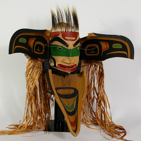 Sea Raven Transformation - Red Cedar Mask