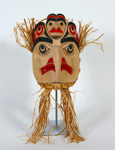 Eagle and Hawk - Red Cedar Mask