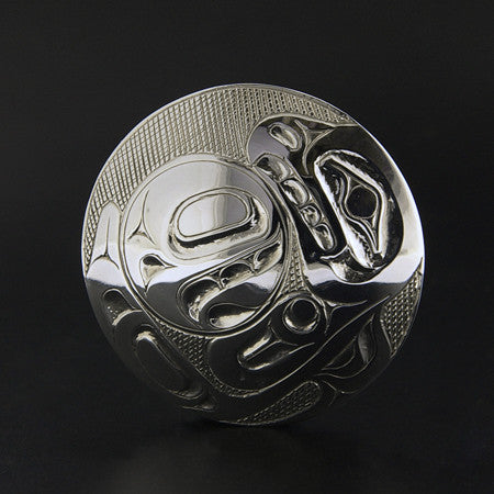 Eagle and Salmon - Silver Pendant