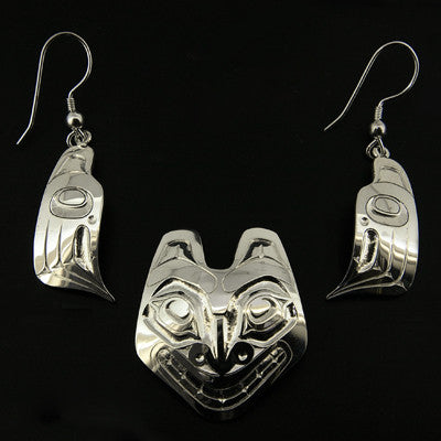 Bear - Silver Jewellery Set