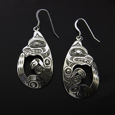 Otter - Silver Earrings
