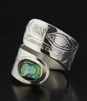 Raven and Light - Silver Ring