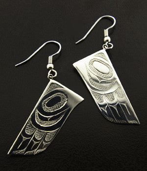 Eagle Feather - Silver Earrings