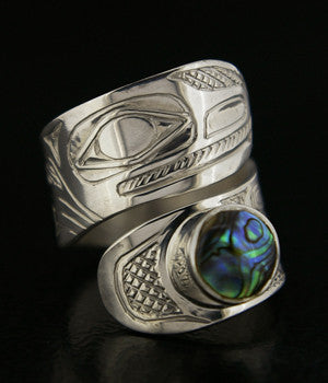 Frog - Silver Wrap Ring