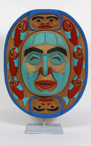 Fishermen and the Harvest Moon - Red Cedar Mask
