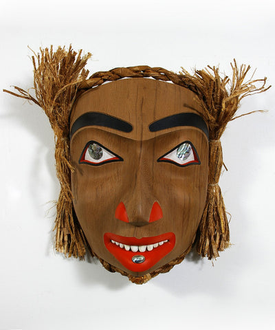 Woman Portrait - Red Cedar Mask